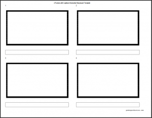 4 up horizontal storyboard template