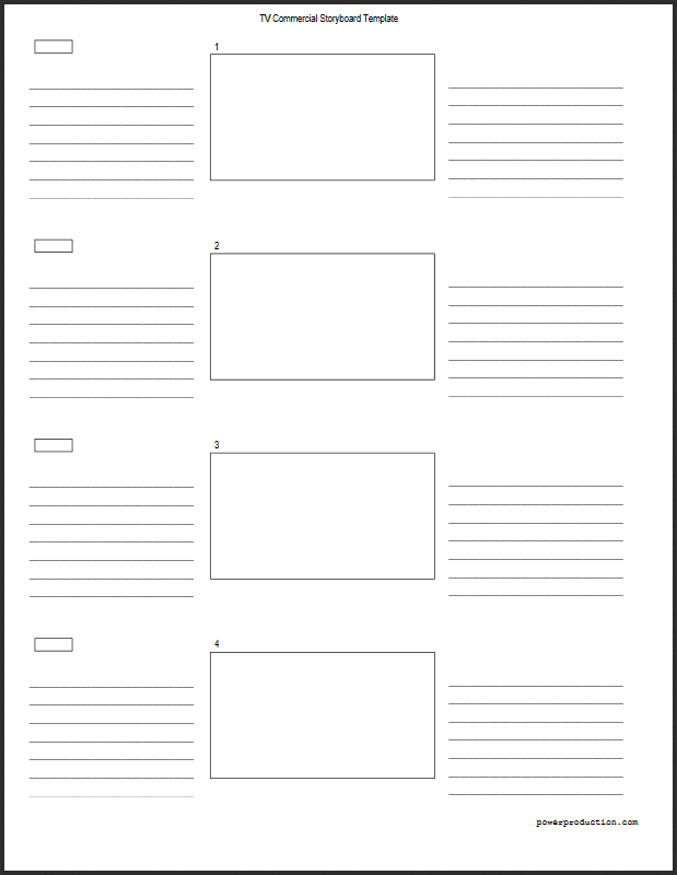 Tv Commercial Storyboard Template