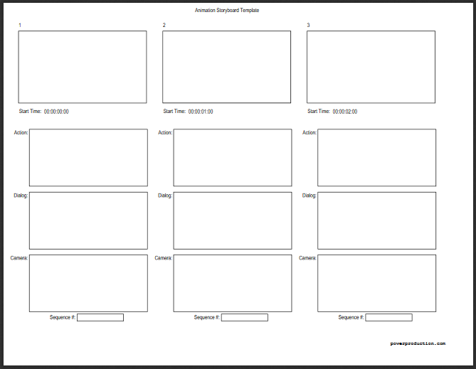 Leere Storyboard Vorlage Mit Linien Storyboard 11