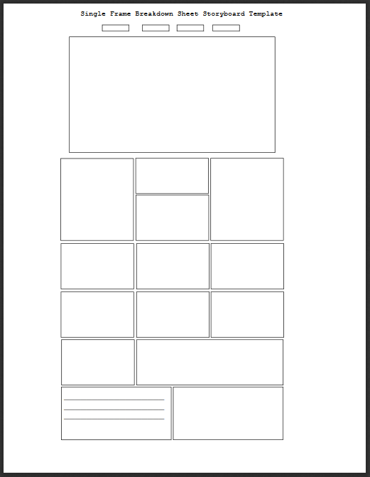 Breakdown Storyboard Template