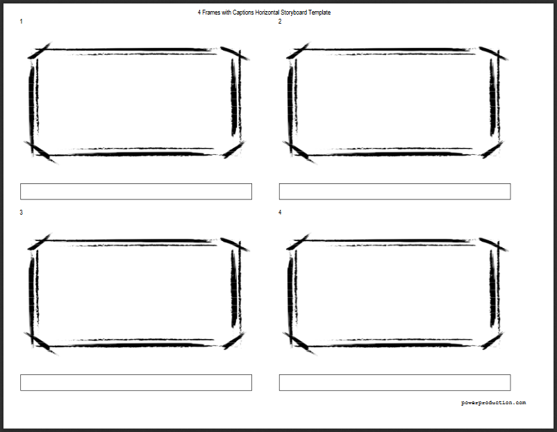 4 Frames Hd Storyboard Template For Video