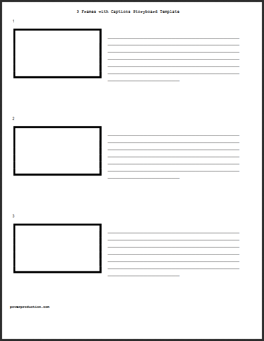 Three Vertical Hd Storyboard Template For Video